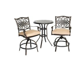 """Traditions - 30"""" 3-Piece Bar Height Bistro Dining Set"""