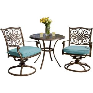 Traditions - 32 Inch 3 Piece Bistro Set with 2 Swivel Rockers