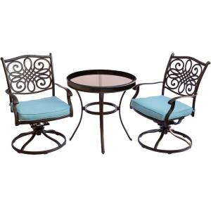 """Traditions - 30"""" 3 Piece Swivel Bistro Set with 2 Swivel Rockers"""
