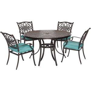 "Traditions - 48"" 5 Piece Round Dining Set with 4 Dining Chairs"