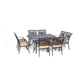 """Traditions - 60"""" 9-Piece Square Dining Set"""