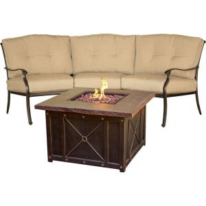 """Traditions - 97.64"""" 2-Piece Chat Set with Fire Pit"""
