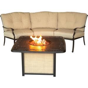 "Traditions - 97.6"" 2-Piece Fire Pit Set"
