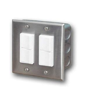 Accessory - Dual Duplex Switch Wall Plate  and  Gang Box 20 Amp Per Pole