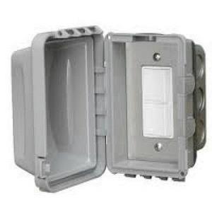 Accessory - Single Duplex Switch Flush Mount  and  Gang Box 20 Amp Per Pole