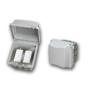 Accessory - Dual Duplex Switch Flush Mount  and  Gang Box 20 Amp Per Pole