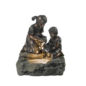 "24"" Fratelli Siblings Rock Outdoor/Indoor Fountain with Light"
