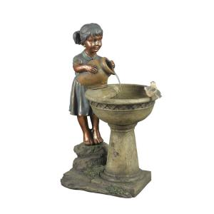 "29"" Versando Bird Bath Outdoor Water Fountain"