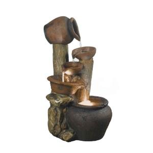 """33"""" Pentole Pot Outdoor/Indoor Fountain with Illumination"""