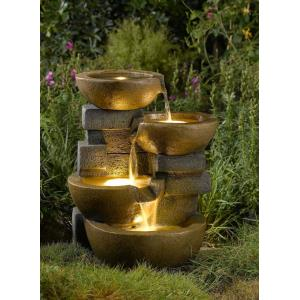 "23"" Pots Water Fountain with LED Light"