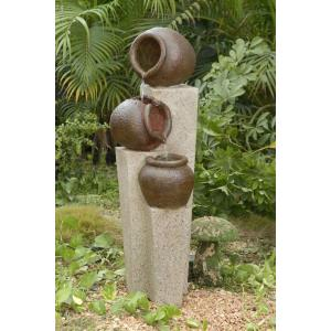 "35.4"" 3-pot Outdoor/Indoor Water Fountain"