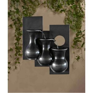 "19.5"" Three Jugs Wall Hanging Wall Fountain"
