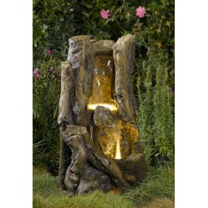 "29.5"" Stump Outdoor/Indoor Water Fountain with LED Light"