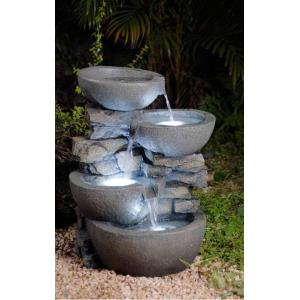 "21.7"" Modern Bowls Fountain with LED Light"