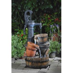 "33.1"" Classic Water Pump Fountain with LED Light"