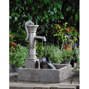 "29.7"" Large Water Pump Fountain with Metal Can"