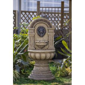 "56.1"" Classic Lion Head Wall Water Fountain"