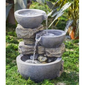 "15.9"" Rock and Pot Water Fountain"