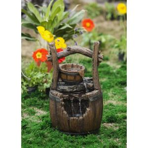 "20"" Broken Barrel Water Fountain"