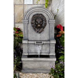 "37.2"" Classic Lion Face Wall Water Fountain"