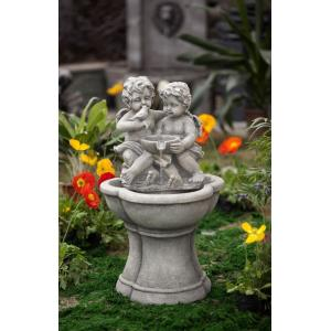 "30.7"" Cherub Water Fountain with LED Light"