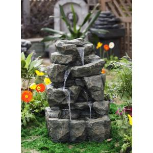 "31.9"" Rock Waterfall Water Fountain without Light"
