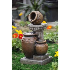 "30.7"" Classic 3-Pot and Column Water Fountain"