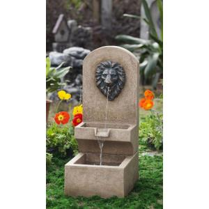 "30.9"" Lion Head Wall Tier Fountain"