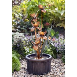 "38.2"" Metal Flower Water Fountain"