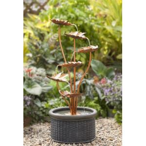 "38.6"" Metal Leaves Water Fountain"