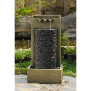 "34.4"" Stone Wall Indoor/Outdoor Water Fountain"