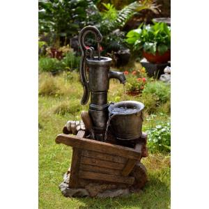 "30.7"" Water Pump and Pot Water Fountain with LED Light"