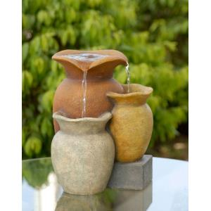 "9.3"" Muiti Colorful Pots Tabletop Fountain"