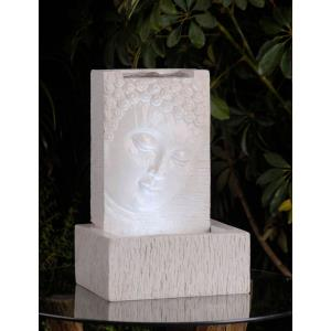 "12.6"" Tabletop Buddha Fountain with LED Light"
