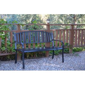 50 Inch Strap Curved Back Park Bench