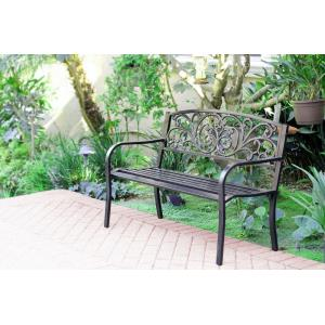 "50"" Scroll Curved Back Park Bench"