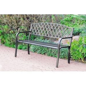 "50"" Crossweave Curved Back Park Bench"