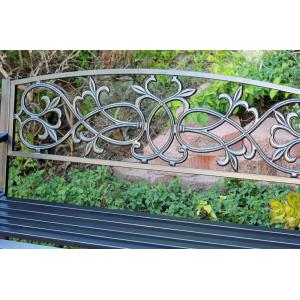 "50"" Scrolling Hearts Curved Back Park Bench"