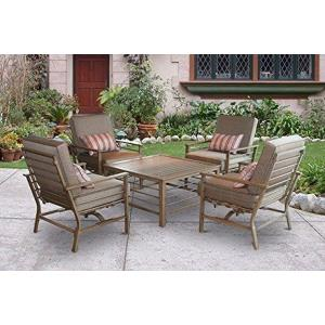 "35.3"" 5 Piece Forby Outdoor Patio Conversation Set"