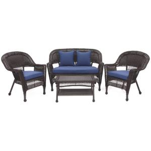 29.5 Inch 4 Piece Conversation Set with Cushion