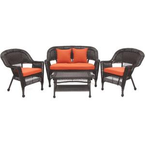 "29.5"" 4 Piece Conversation Set with Cushion"