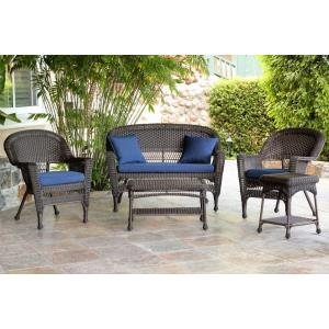 51 Inch 5 Piece Conversation Set with Cushion