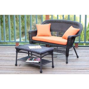 """51"""" Patio Love Seat and Coffee Table Set with Cushion"""