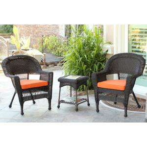 "36"" 3 Piece Chair and End Table Set with Cushion"
