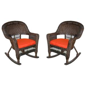 36 Inch Rocker Chair with Cushion (Set of 2)