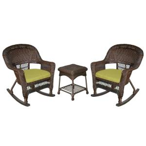 36 Inch 3 Piece Rocker Chair Set with Cushion