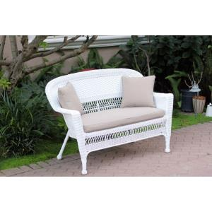 "51"" Patio Love Seat with Cushion and Pillow"