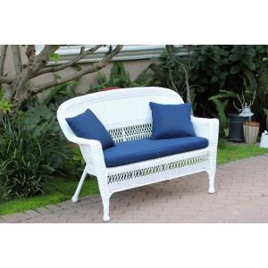 51 Inch Patio Love Seat with Cushion and Pillow
