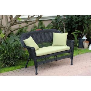 """51"""" Patio Love Seat with Cushion and Pillow"""