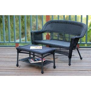 51 Inch Patio Love Seat and Coffee Table Set without Cushion